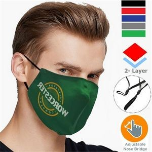 2-Layer Face Mask w/ Personalized Logo Adjustable Masks